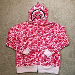 A Bathing Ape - Shark Hoodie - Pink
